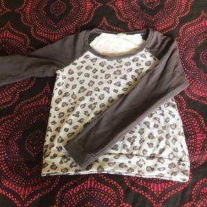 Splendid French terry raglan leopard sweatshirt